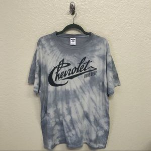Chevrolet Tie Dye Graphic Tee XL Upcycled